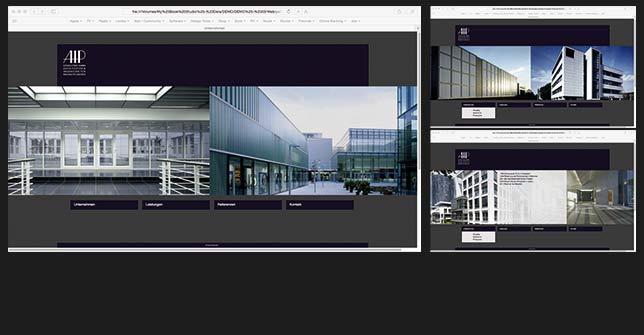 Webdesign Architektur