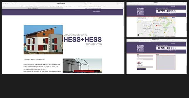 Webdsign Architektur