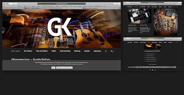 Webseite Gitarren Coaching