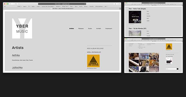 Webseite Musiklabel