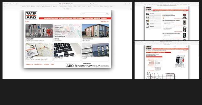Webdesign Industrie/Handel
