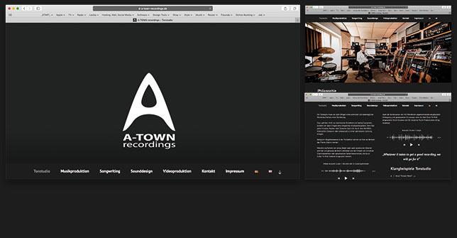 Webseite Tonstudio
